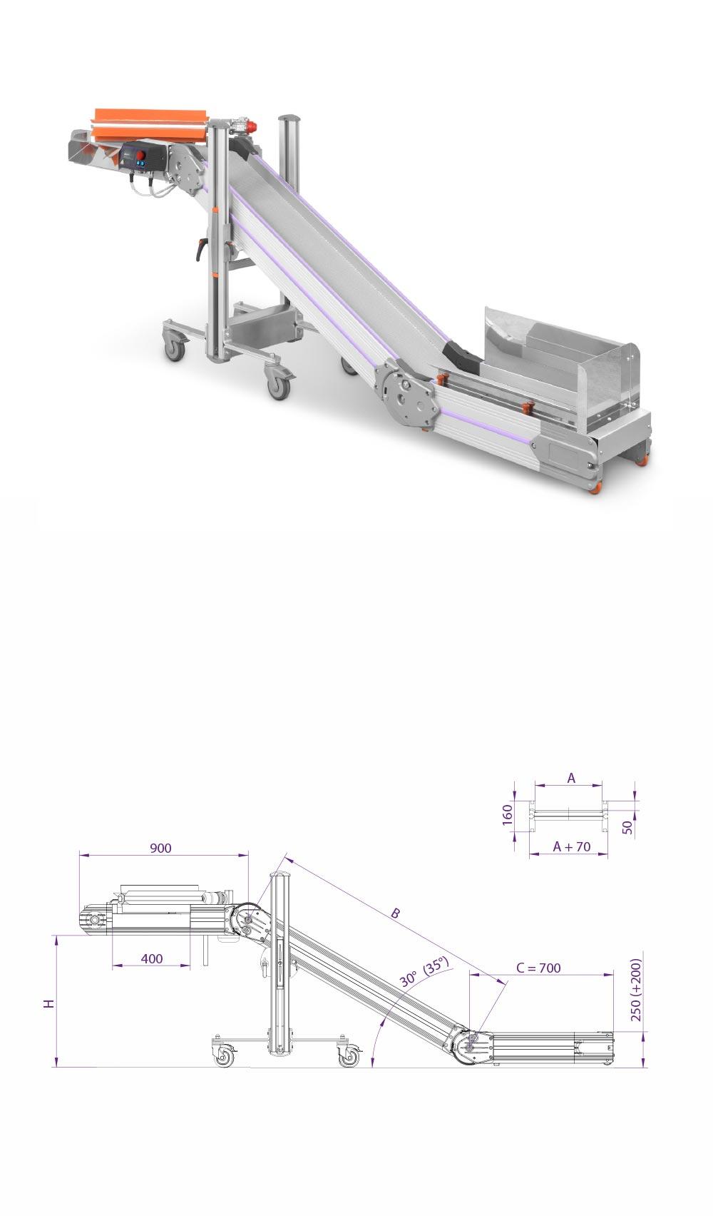 z shaped conveyor
